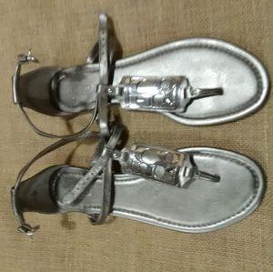 Coach silver sandals